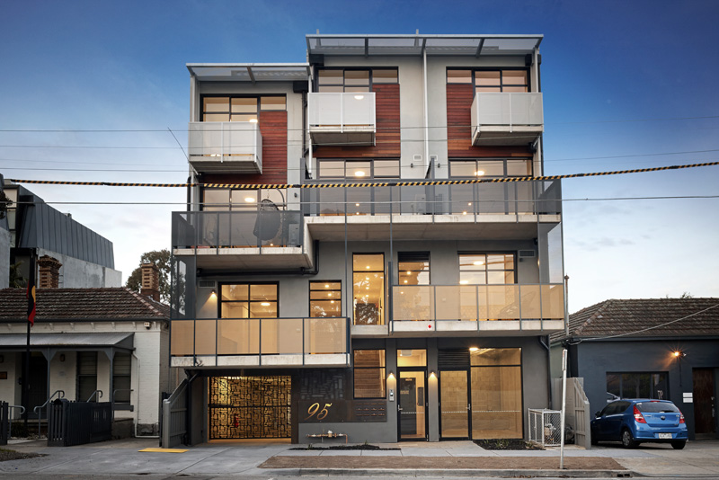 apartment development facade, wellington street st. kilda