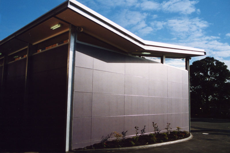 school multi-purpose hall exterior