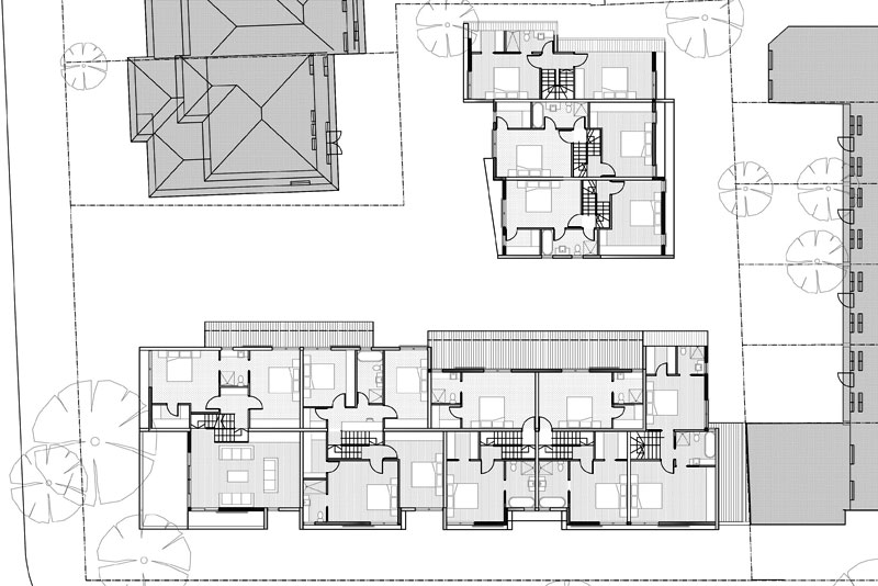 family sized townhouse, first plans