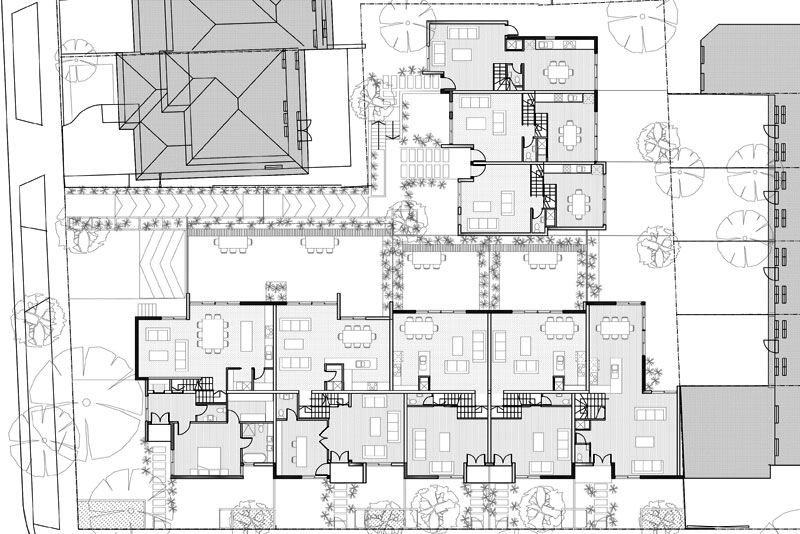 Alsocan architects architect designed townhouses for 4 unit townhouse plans